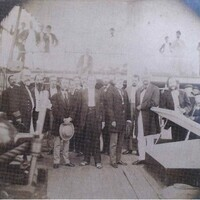 Frederick Douglass on the deck of the USS Tennessee in Charleston, South Carolina, March 26, 1871