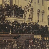 Frederick Douglass at Lincoln's second inaugural, 1865
